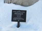 Lightning Danger Sign Near the Summit of Mount Whitney