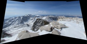 Mount Whitney in the Inyo National Forest Panorama