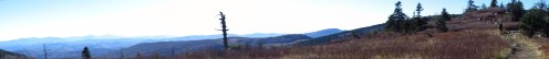 Oil Can in Grayson Highlands, Virginia Panorama