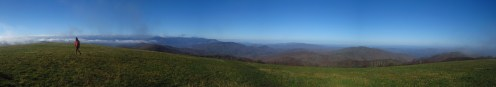 Oil Can on Max Patch on the Tennessee/North Carolina Border Panorama