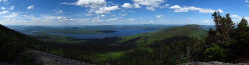 Old Mans Head on Bigelow Mountain in Maine Panorama