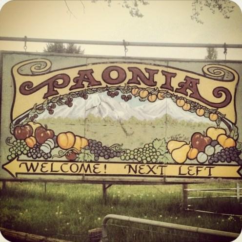 Paonia, Colorado Sign