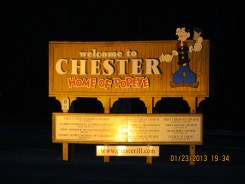 Popeye Sign in Chester, Illinois
