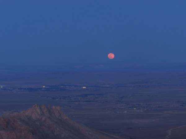 Red Moon Over the Mojave Desert