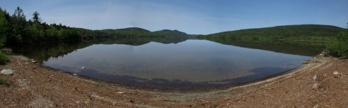 Rock Skipping Pond in the 100-Mile Wilderness in Maine
