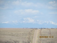 Rocky Mountains in the Distance from Route 94 in Colorado