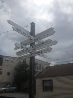 Distances from Lincoln, New Hampshire Sign