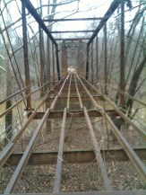 Super Sketchy Bridge Crossing in O'Bannon Woods State Park in Leavenworth, Indiana