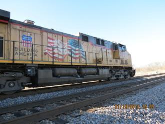 Union Pacific Railroad Engine Outside Marion