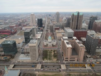 View of St Louis from the Gateway to the West