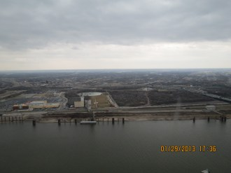 View of the Mississippi River from the Gateway to the West