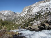 From the top of the Waterfall at Muir Meadow in Kings Canyon National Park