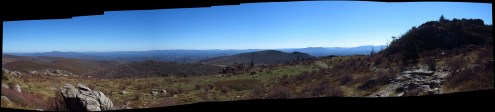 Wilburn Ridge in Grayson Highlands, Virginia Panorama