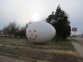 Tipped and Graffiti'd Egg in Wilson, Kansas