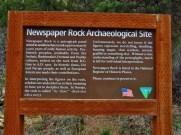 Newspaper Rock Sign