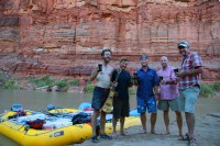 Cheers in Cataract Canyon on the Colorado River