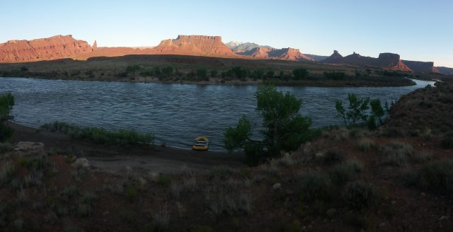 Overlooking Onion Creek Camp on an Overnight on the Daily
