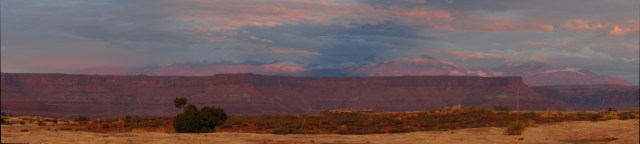 Sunset on the La Sal Mountains Panorama