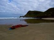 Net Washed onto Te Werahi Beach at Cape Reinga