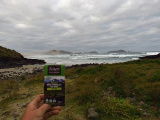 Salazon Chocolate by Waimoau Stream at Cape Reinga