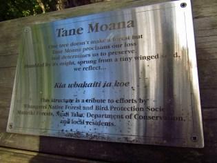 Tane Moana Plaque