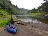 Packraft Beach Tarp Setup on the Whanganui River