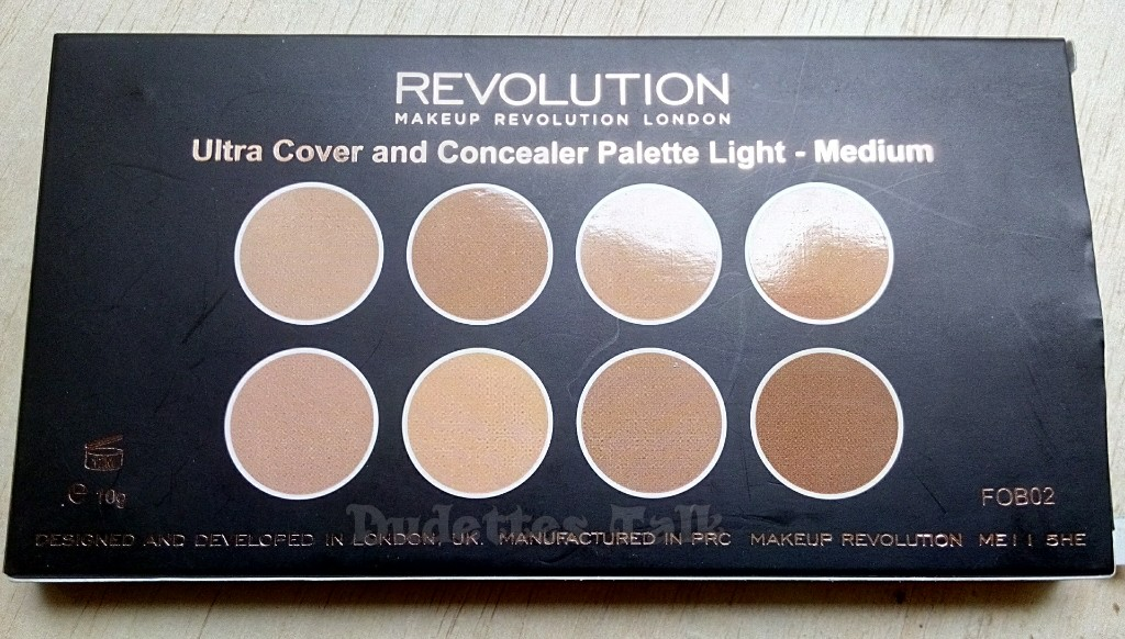 Makeup Revolution Cover  Conceal Palette in LightMedium Review  Swatches