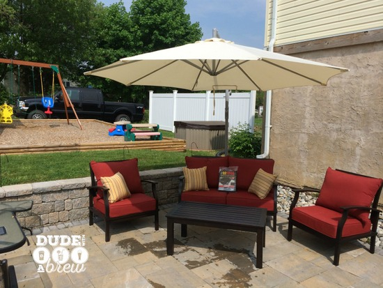 diy patio furniture cover hack
