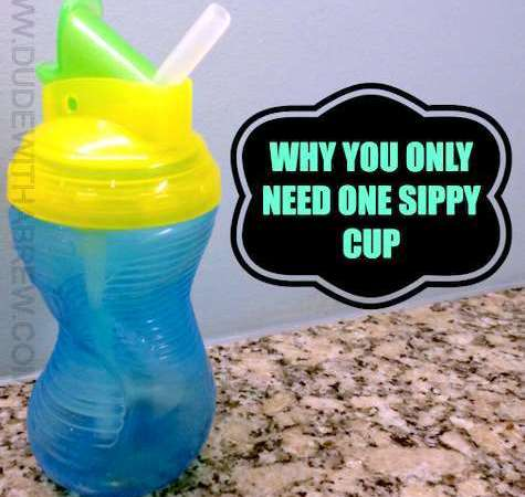 Why You Only Need One Sippy Cup