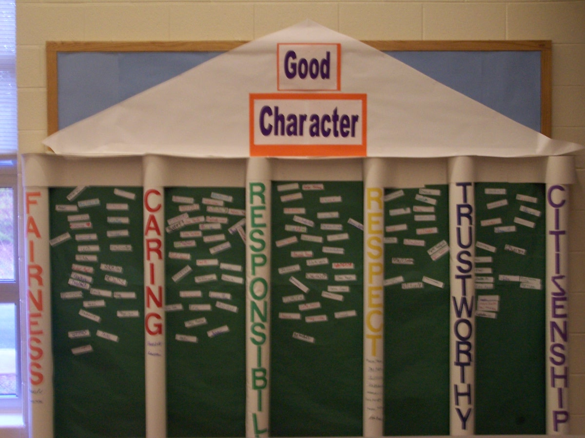 Pillars Of Character Bulletin Board