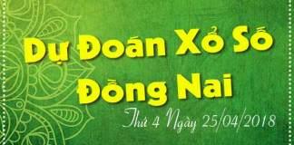 du doan xo so 24 dong nai ngày 25/04/2018