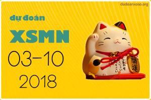 dự đoán xsmn 3/10/2018
