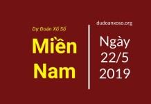 dự đoán xổ số miền nam trúng thưởng ngày 22/5/2019