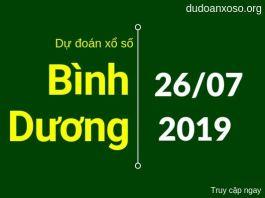dự đoán xsdb hôm nay ngày 26/7/2019