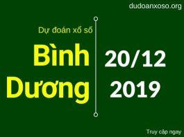 dự đoán xổ số bình dương wap 20/12/2019