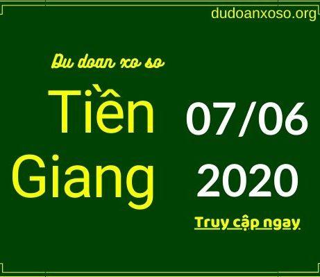 dự đoán xstg 7/6/2020