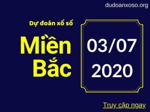 dự đoán xsmb 3/7/2020