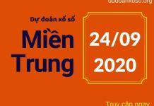 Dự đoán XSMT 24/9/2020