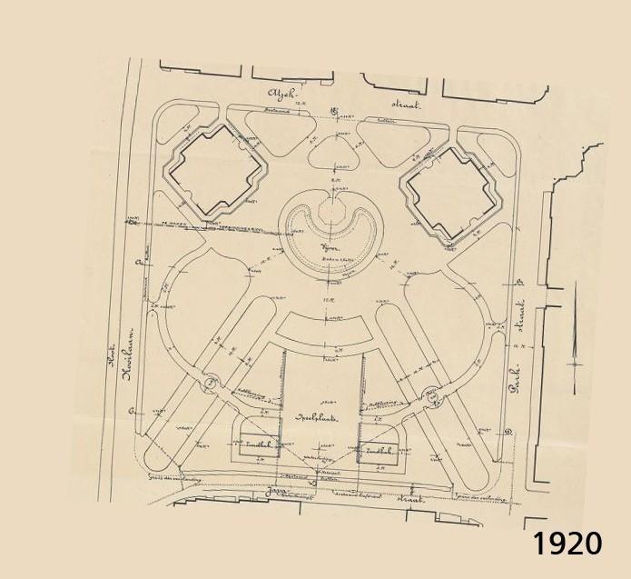 Kooipark, Leiden. Stadspark uit 1920. Oorspronkelijk ontwerp uit 1920