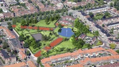 Kooipark, Leiden. Stadspark uit 1920. Situatie na de renovatie van 2014.