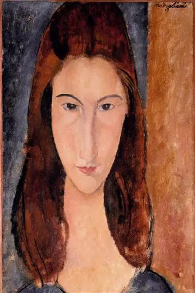 Amedeo Modigliani, ritratto di Jeanne Hebuterne,