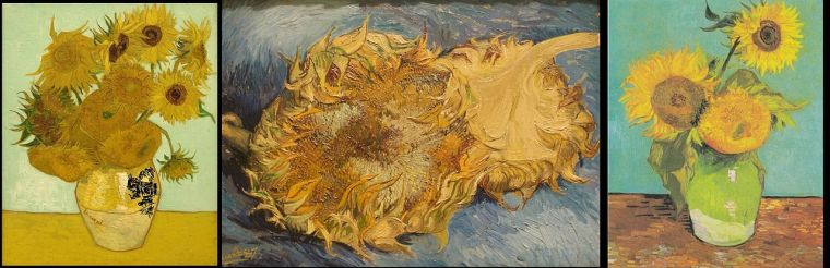 Vincent Van Gogh, Girasoli (serie), 1888-1889, olio su tela
