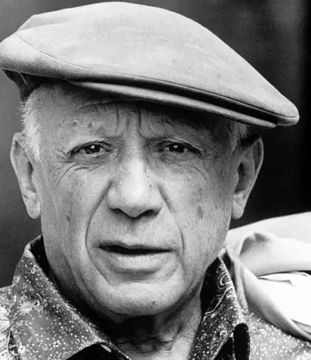 Pablo Picasso, nel gennaio del 1962