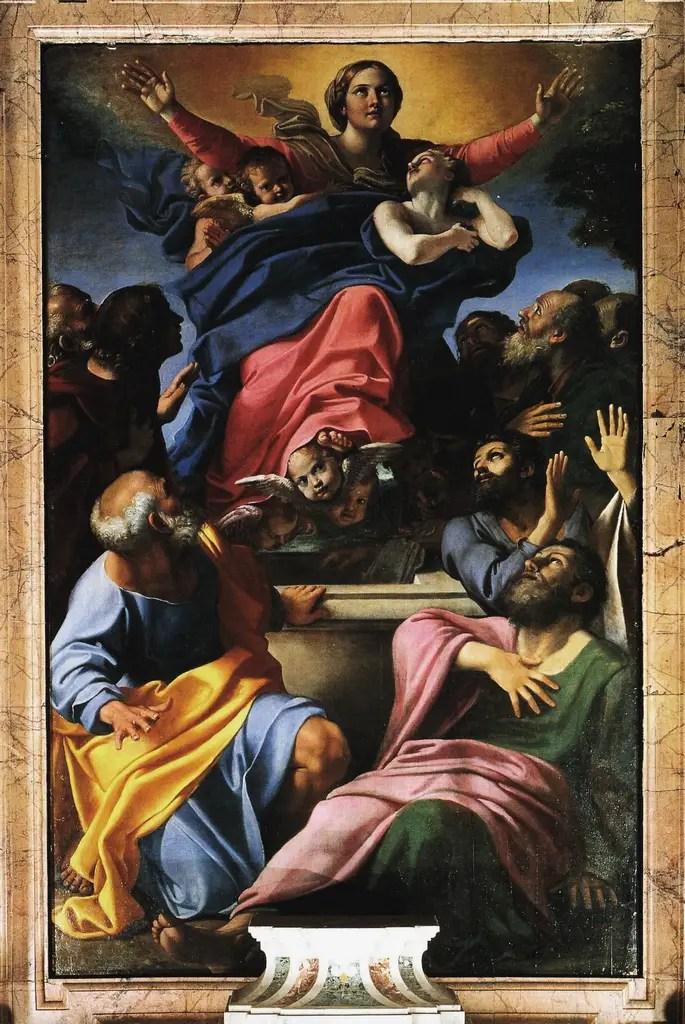 Annibale Carracci, Assunzione della Vergine (1600-1601), Basilica di Santa Maria del Popolo, Roma