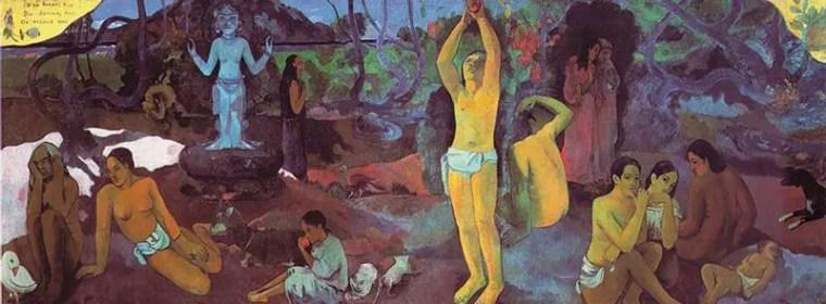 Paul Gauguin, Chi siamo? D dove veniamo? Dove andiamo?, 1897-1898, olio su tela 139 x 374,5 cm, 1897, Museum of Fine Arts, Boston.