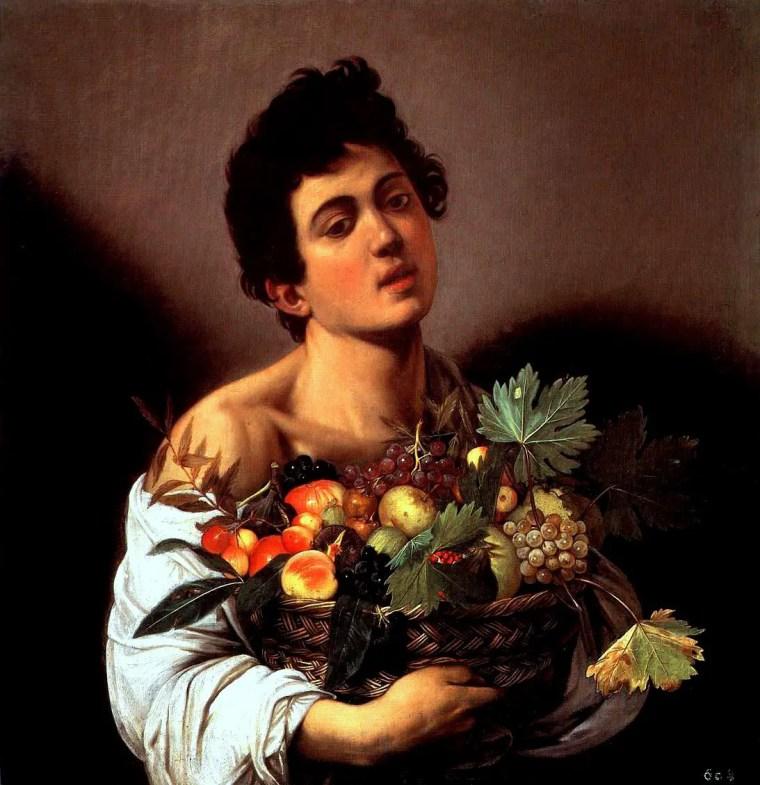 Caravaggio, Ragazzo con canestro di frutta, 1593-1594, Galleria Borghese, Roma