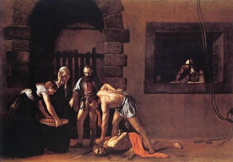 Caravaggio, Decollazione di San Giovanni Battista, 1608, olio su tela, 361×520 cm, Concattedrale di San Giovanni, La Valletta