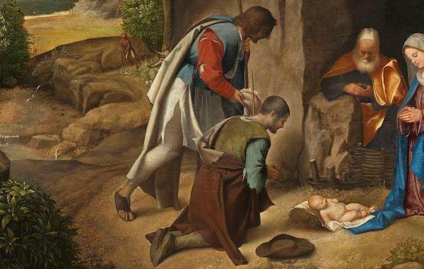 Giorgione, Natività allendale (dettaglio)