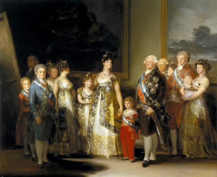 Francisco Goya, La famiglia di Carlo IV, 1800-1801, olio su tela, 280×336 cm, Museo del Prado, Madrid