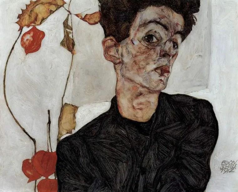 Egon Schiele, Autoritratto, 1912